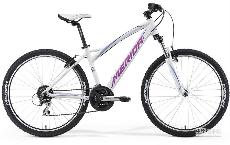 專為女性設計的茱莉葉,此為入門款6.20,強調騎的舒適度。(美利達提供)