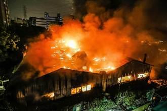 火燒百坪廠房  百萬杜卡迪葬身火窟