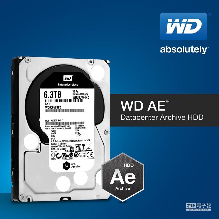 具備漸進式容量與最佳化能源效率的WD Ae硬碟。(WD提供)
