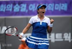 亞運女網團體金牌戰 詹詠然拿下首點
