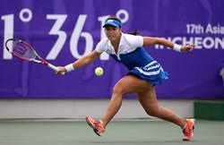 亞運女網團體金牌戰 詹詠然拔得頭籌