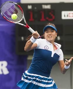亞運女網團體金牌戰 詹詠然奪第一點