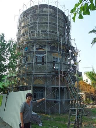 北港十角水塔「拉皮」 年底重生