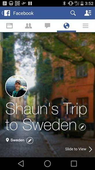 說故事當道,Facebook即將推出「Trip Slideshows」功能!