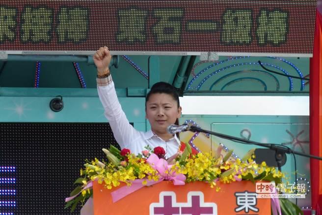 東石鄉長參選人林佳瑩強調會用心建設東石造福下一代。(呂妍庭攝)