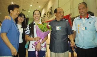 蕭美玉歸國 胡志強讚台灣的光榮