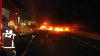 慘!國道6車大追撞 2車瞬間成火球