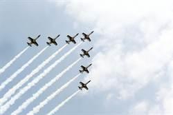國慶預演 空軍雷虎小組模擬飛行