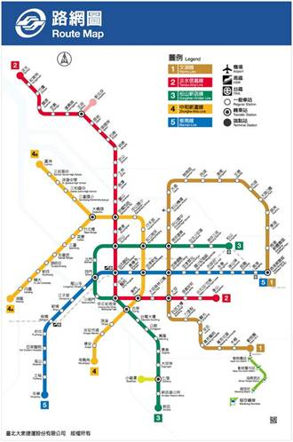 松山線通車後 北捷路線加上新編號