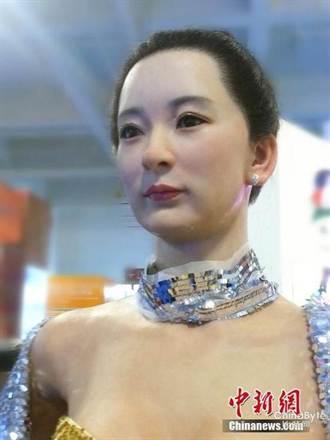 甘肅文博會美女現身 竟是機器人