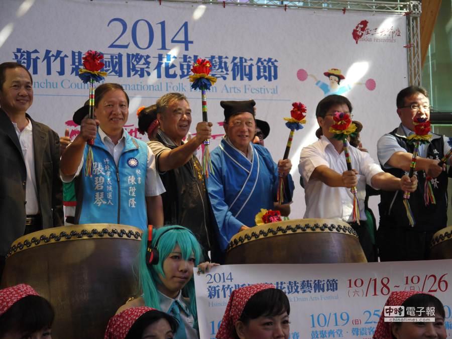 邁入第11屆的「新竹縣國際花鼓藝術節」,18日起將於新竹縣體育館震撼登場。(陳育賢攝)