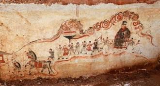 湖南發現明代古墓壁畫 保存完好