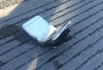 出車禍沒事 折彎的iPhone 6卻讓車主二度灼傷