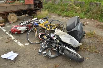 女大生騎車載友 撞大貨車身亡