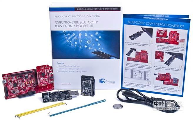 Cypress高度整合的單晶片藍牙低功耗套件。(業者提供)