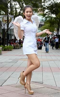雞排妹化身天使 為車禍受害者祈福