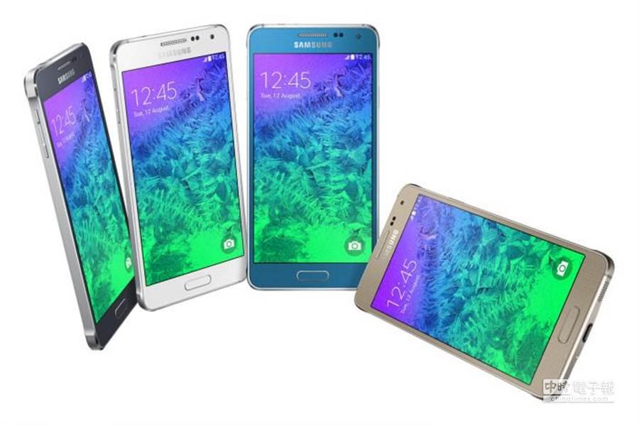 三星今年所發表的旗下第一款金屬邊框手機—Galaxy Alpha。(圖/9to5google)