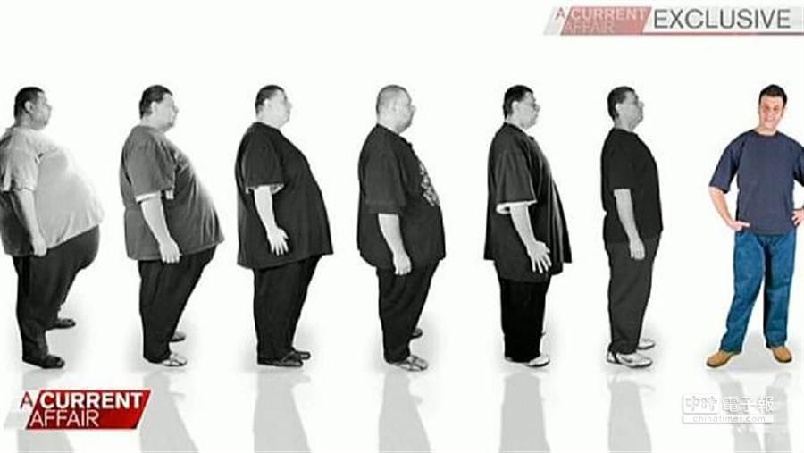 澳洲最重男Jordan Tirekidis經過2年半減重,共甩肉200公斤。(圖取自澳洲news網站)