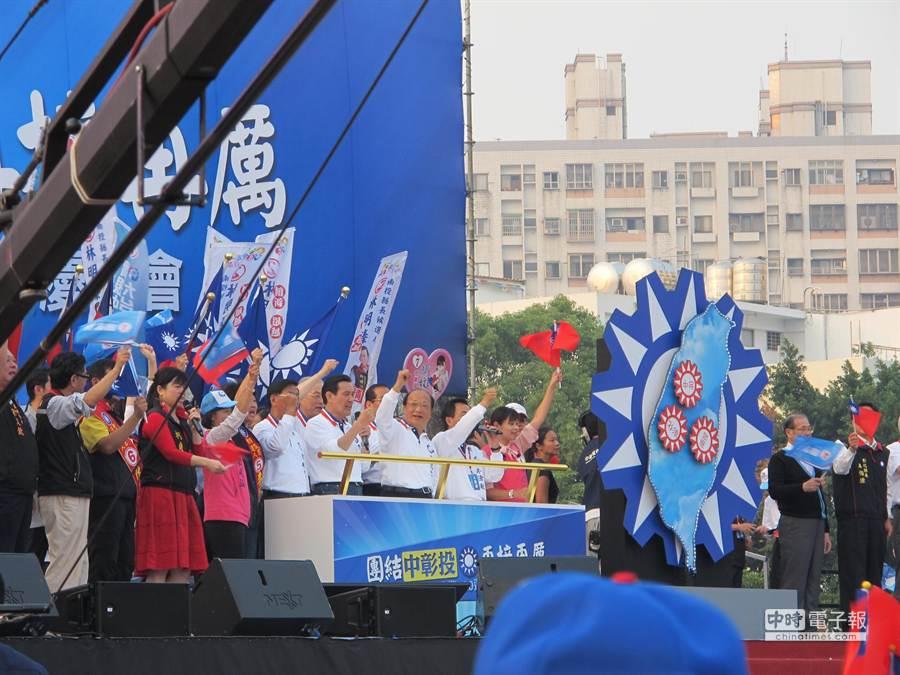 馬總統說,台灣不能再睡覺,要開放才能帶來興旺。(盧金足攝)