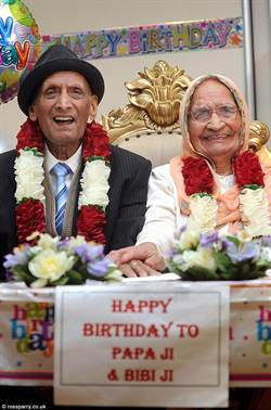 印度百歲夫婦 婚齡將近90年