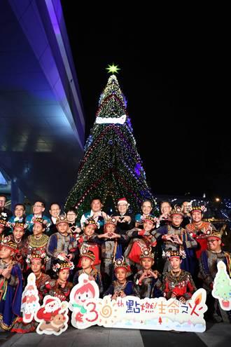 「LOVE聖誕城」 中信金南港點燈