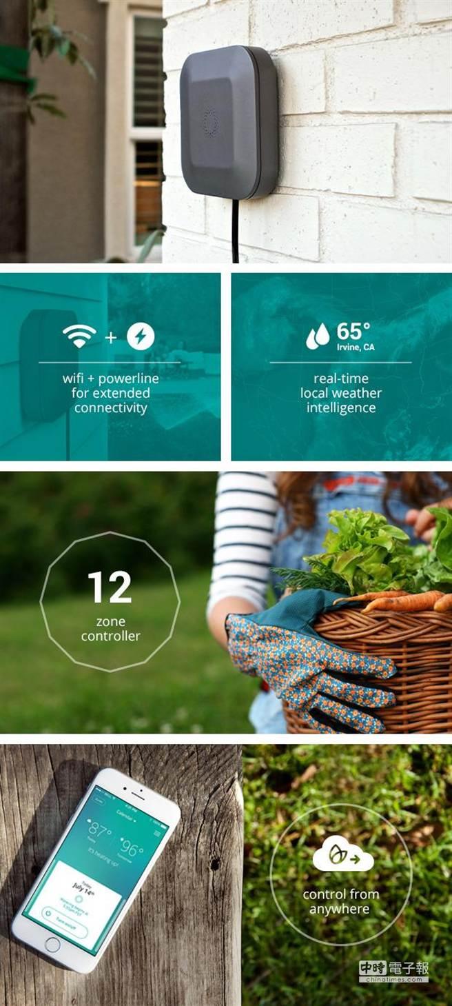 Blossom,Wi-Fi連線的農業灌溉控制裝置。(ARM提供)