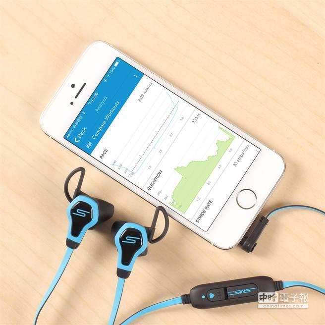 SMS Audio x Intel BioSport運動耳機。(圖/思維寶藍)