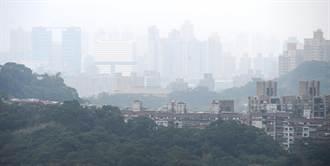 霾害 台北盆地一片灰濛