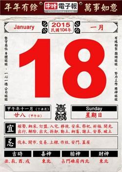 《農民曆小幫手》國曆一月十八日