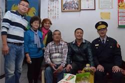 樹林警慰問獨居老人 農曆年前送物資