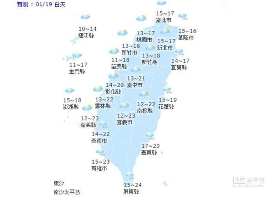 圖取自中央氣象局