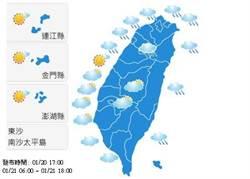【明日天氣預報】2015年1月21日白天氣象觀測