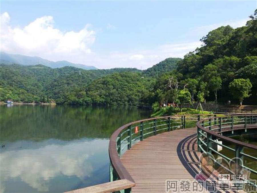 湖畔旁木棧步道(圖/截自阿發部落格)