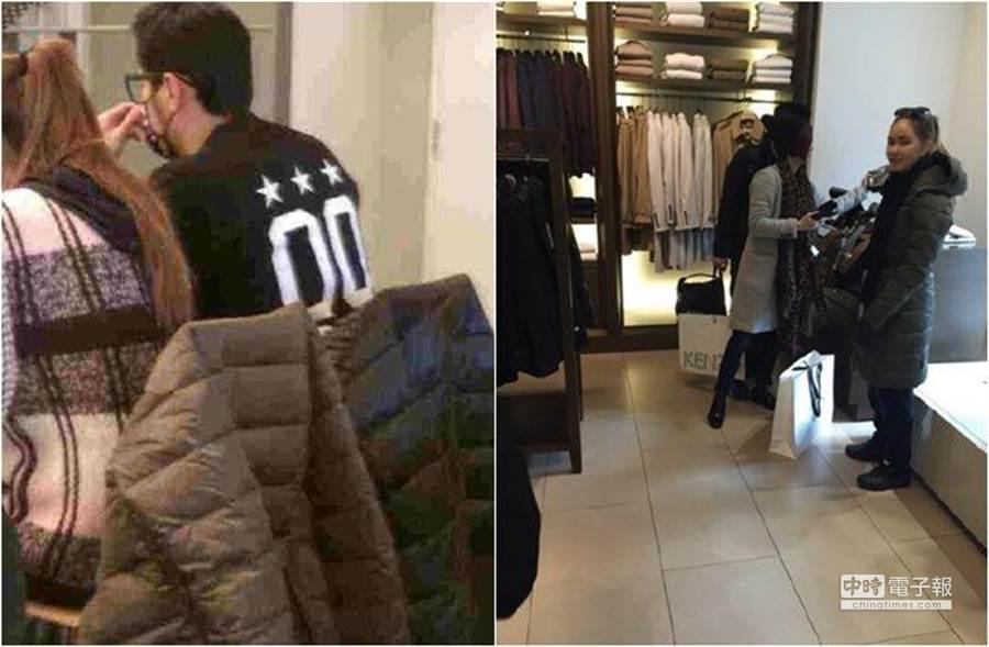周杰倫與昆凌目前仍待在英國,有網友拍到兩人外出的恩愛照片。(圖/取自周杰倫歌迷官方微博/合成圖)