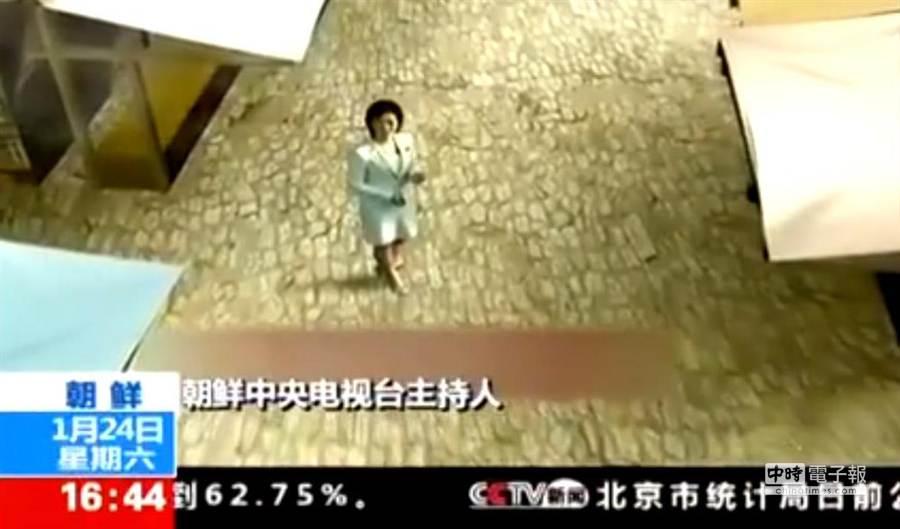 北韓官方傳聲筒的中央電視台,開始運用3D虛擬實境技術。(取材自大陸中央電視台)