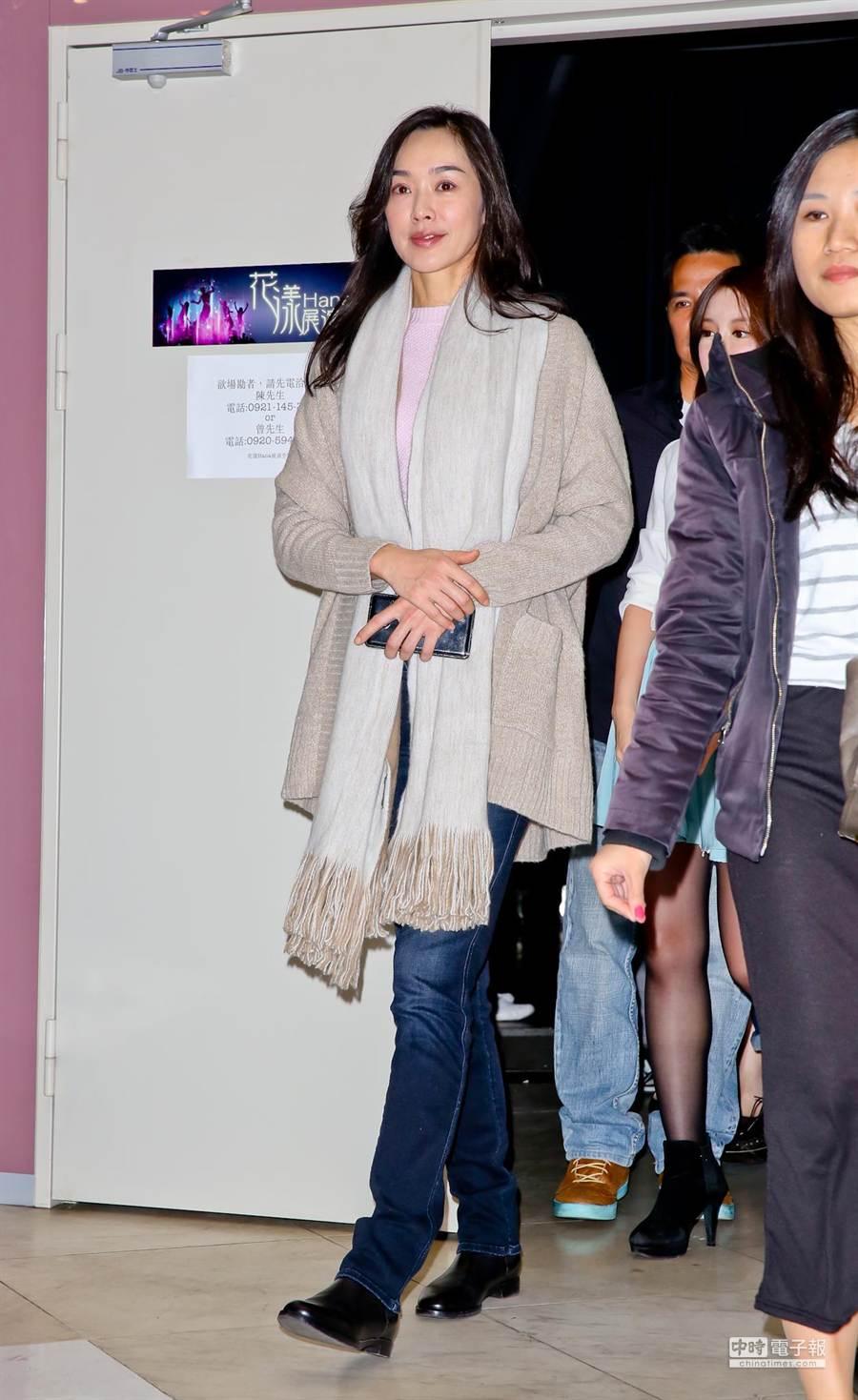 王靜瑩出席自閉兒基金會活動。(羅永銘攝)