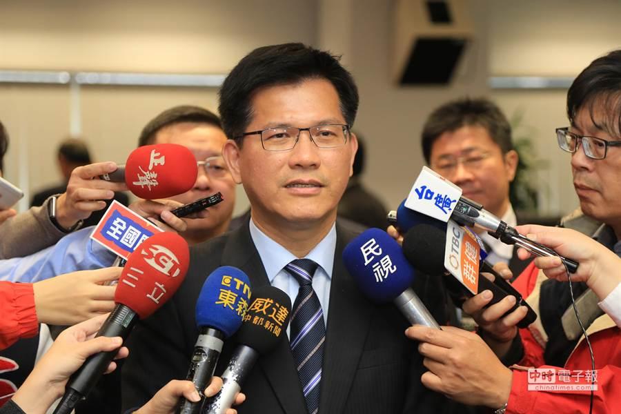台中市長林佳龍上午宣布,2018花博將放棄后里區石虎棲地41公頃,另在外埔區與豐原區擇地選址補足。(盧金足攝)