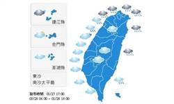 【明日天氣預報】2015年1月28日白天氣象觀測