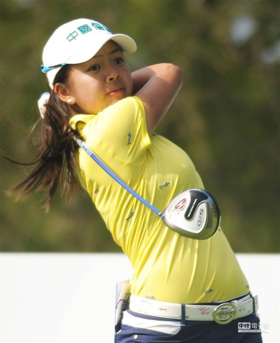 徐薇淩資料照。圖為她2014年10月30日參加LPGA台灣錦標賽的比賽身影。(季志翔攝)