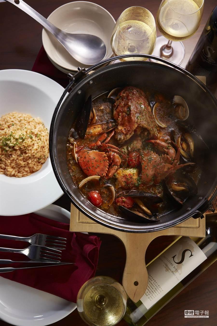 SALVATORE CUOMO & BAR 薩瓦托雷義式餐廳開店周年,推出紀念套餐。(業者提供)