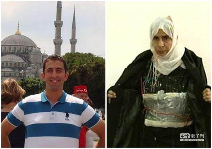 女炸彈客莎吉達亞(右圖)仍囚禁在約旦,約旦飛行員卡薩斯貝(左圖)生死未卜。(資料照片,美聯社、網路)