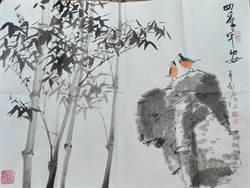 李穀摩大師致贈省府新畫作「四季平安」