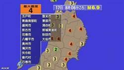 日本岩手6.9強震後 青森下午地牛翻身