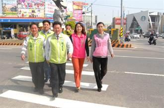 彰化市中華西路5交叉路口 改善完工