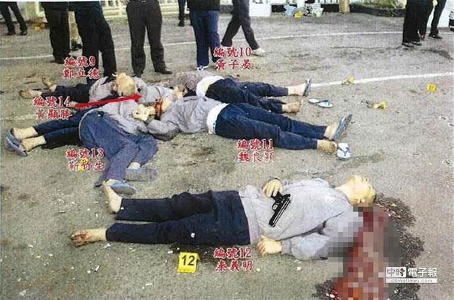 法務部17日公布6名劫囚犯陳屍照片,釐清外界傳聞。(法務部提供)
