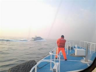 春節不打烊 海巡護航琉球交通船