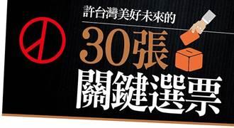 許台灣美好未來的30張關鍵選票