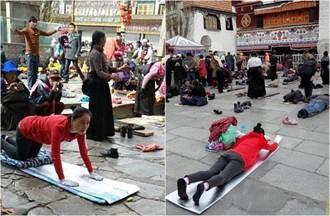虔誠王菲 西藏五體投地朝拜