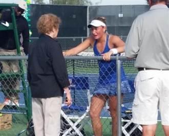 奇事!瑞典女網球員蘇珊不巧球砸線審遭判失格