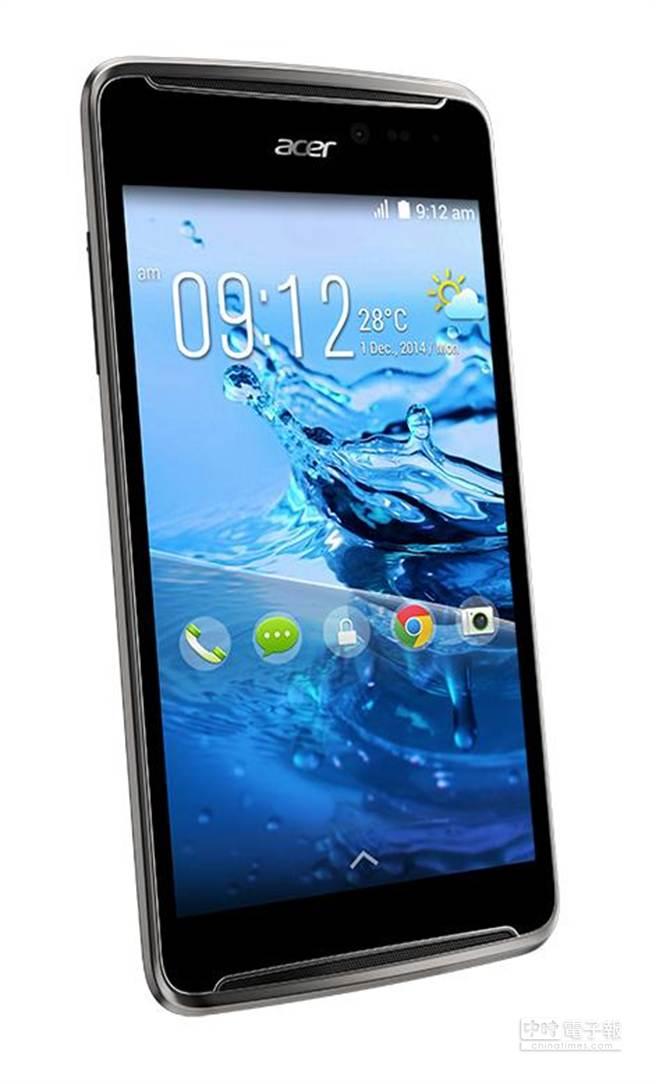 宏碁去年底推出的5吋螢幕4G入門手機,單機價位已降到3990元。(宏碁提供)